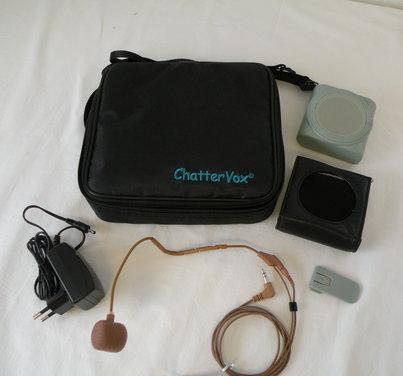 ChatterVox AMPLIO - komplet med headset-mikrofon (hudfarvet)